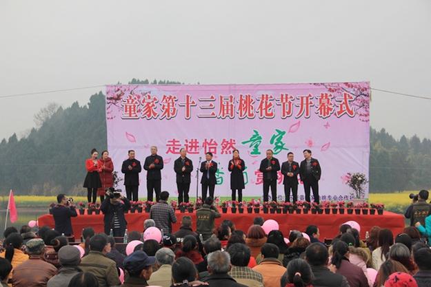童家镇第十三届桃花节开幕